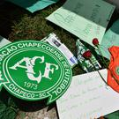 Flowers and condolences laid at Chapecoense's home ground. Getty