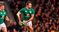 Jared Payne suffered a kidney injury during Ireland's victory over Australia. Photo: Brendan Moran/Sportsfile