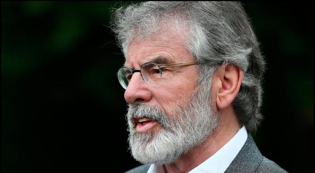 Sinn Fein's Gerry Adams. Photo: Steve Humphreys
