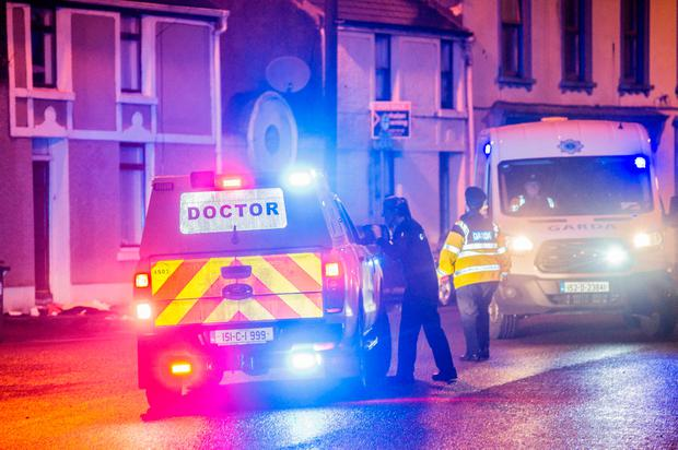 The scene of a shooting on the Old Commons Road near Blackpool Village, Cork. A man believed to be local and in his 30s was seriously injured. Pic Daragh Mc Sweeney/Provision