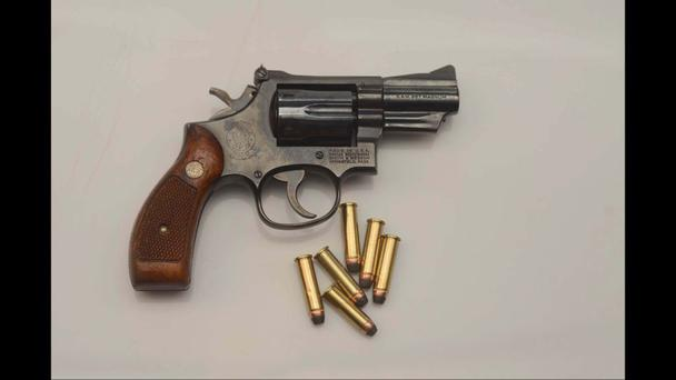 The Smith & Wesson two-inch Magnum Revolver.