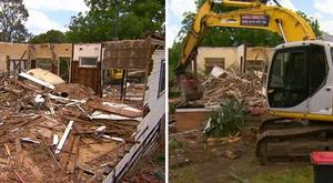 Mr Ballas' home was torn down in error. Photo Credit Channel 9 news