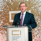 An Taoiseach Enda Kenny speaks at the launch of the Creative Ireland Programme 2017-2022 in The National Gallery. Photo: Tony Gavin