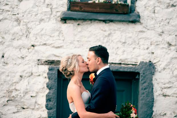 The happy couple: Ellie and James on their wedding day. Photo: Couple Photography