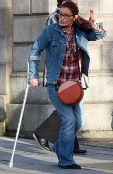 Kathleen Dunne, of Whitestown Green, Blanchardstown, Dublin pictured leaving the Four Courts after a High Court action.Pic: Collins Courts