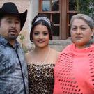 Rubi Ibarra pictured with her parents in their video invite
