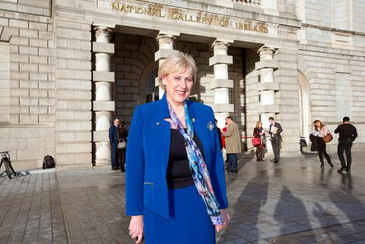 Arts Minister Heather Humphries at the launch of the Creative Ireland Programme 2017-2022 in The National Gallery. Photo: Tony Gavin