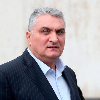 Augustin Ion (49) of Garrynisk Square, Tallaght, Dublin and originally from Romania pictured leaving the Dublin Circuit Criminal Court Photo: Collins
