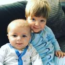 Four-month-old Archie Joe Darby and his 22-month-old brother Daniel. Archie died when their family dog attacked him. (Photo: Provided by family/PA Wire)