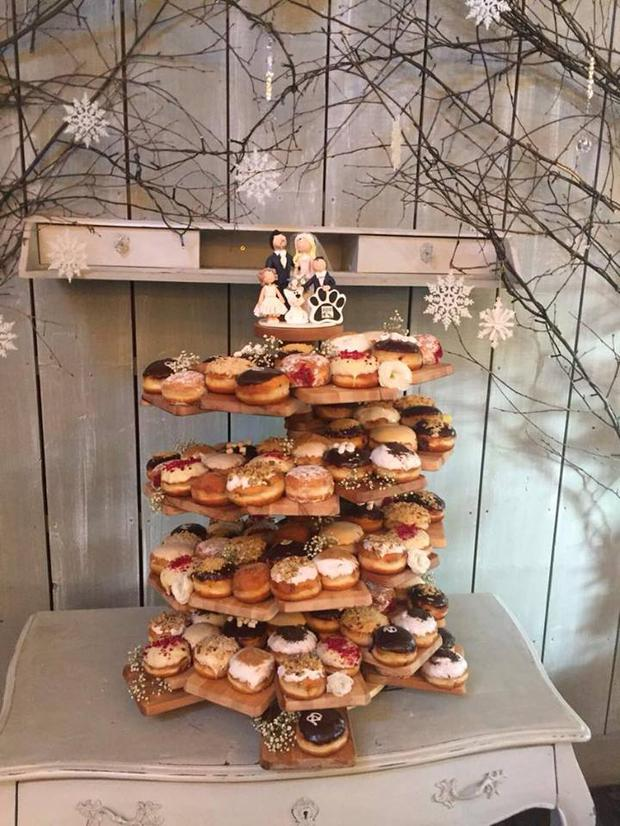 Doughnut wedding cake from irish company is the stuff of dreams an image of a rolling donut wedding cake the stand was created by dynamic cater junglespirit Choice Image