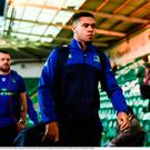 Adam Byrne of Leinster arrives ahead of the European Rugby Champions Cup Pool 4 Round 3 match between Northampton Saints and Leinster at Franklin's Gardens in Northampton, England.