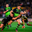 Ringrose of Leinster is tackled by Nic Groom of Northampton Saints