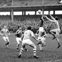 Action from the halcyon days of the Railway Cup when crowds flocked to Croke Park – here to see the 1965 football semi-final between Ulster and Munster. Picture credit; Connolly Collection/Sportsfile