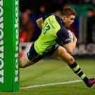 Garry Ringrose of Leinster scores their first try