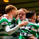 Celtic's Leigh Griffiths celebrates scoring his sides third goal