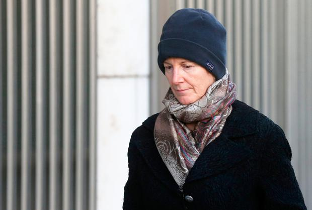 Bernadette Scully: Wept in court as routine of caring for her daughter Emily was outlined to the jury Picture: Collins