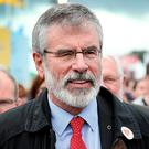 Gerry Adams has impaled himself upon a hook and is determined to wriggle off it. Picture: Steve Humphreys