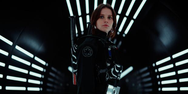 Felicity Jones in Rogue One: A Star Wars Story, a spin-off that will dominate the movie universe over Christmas