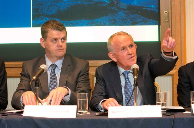 INM chief executive Robert Pitt and chairman Leslie Buckley Picture: Collins