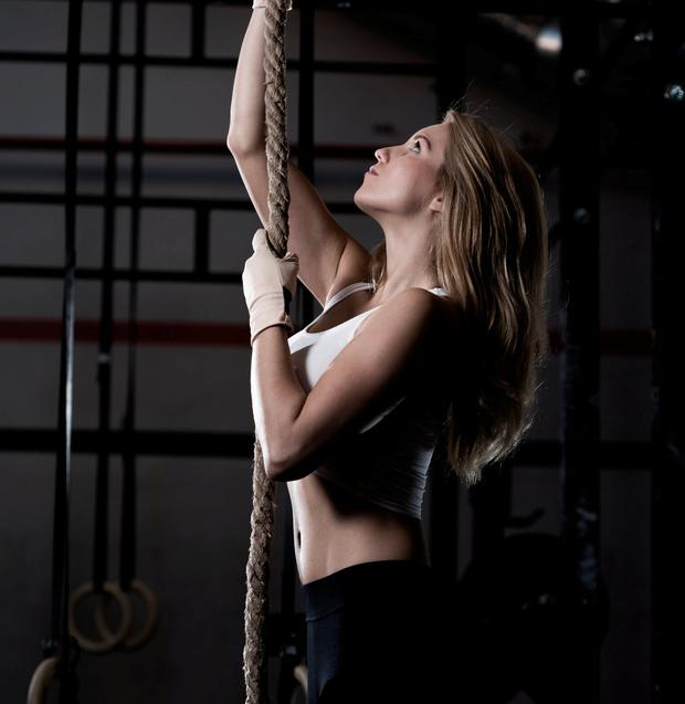 Rope-climbing is a feature of Crossfit gyms