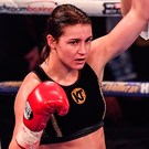 Katie Taylor following her victory last night. Photo: Sportsfile