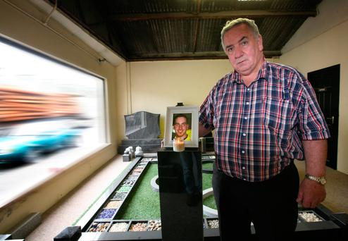 Brian's father James Regan remembers his 26-year-old son in Loughrea, Galway. Photo: Brian Farrell