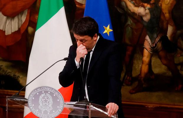 EXIT: Italy faces a period of political uncertainty after prime minister Matteo Renzi announced his resignation following his defeat in a constitutional referendum