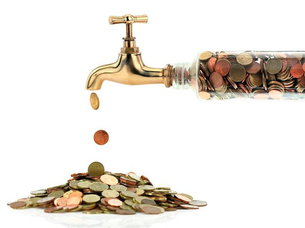 Water-tax net revenue from households is €120m with general taxation contributing €550m to the water budget.