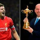 Steven Gerrard and Thomas Bjorn