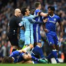 Chelsea could become the first side since Manchester United and Arsenal to lose points for poor player behaviour. Getty
