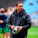 Connacht head coach Pat Lam prior to the European Rugby Champions Cup Pool 2 Round 3 match between Wasps and Connacht at the Ricoh Arena