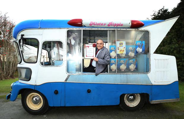 Local Ice Cream Legend Scoops Lifetime Achievement Award from HB. Pic. Robbie Reynolds