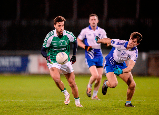 Paul Sharry of Leinster in action against Seán Mullooly of Connacht. Photo by Daire Brennan/Sportsfile