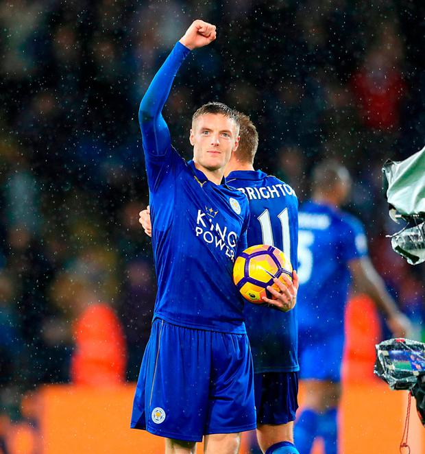 Leicester City's Jamie Vardy. Photo: Adam Davy/PA Wire.