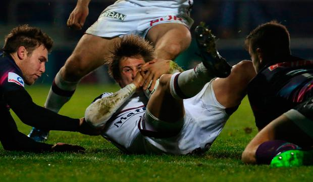 A penalty from skipper Baptiste Serin was all Bordeaux had to show for a mundane first half but the scrum-half then registered the decisive try four minutes before the hour. Photo: Getty Images