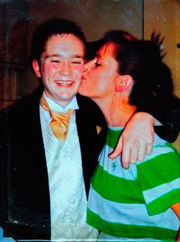 Anthony Campbell pictured with his mother Christine Campbell
