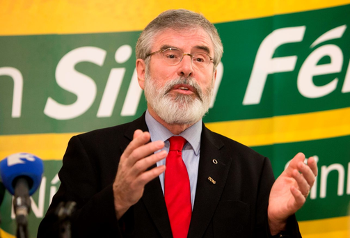 Sinn Fein President Gerry Adams. Photo: Gareth Chaney/Collins
