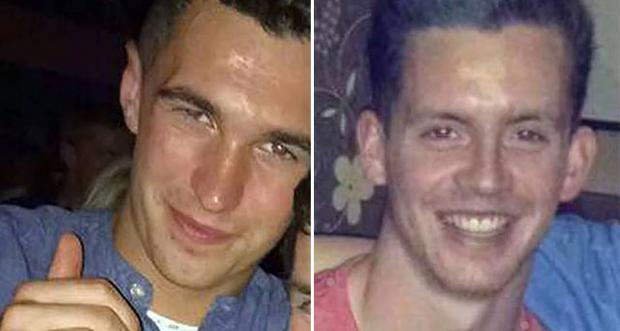 Pictured: Road victims Maurice McCloughan (left) and Killian Doherty