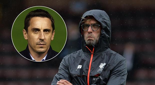 Jurgen Klopp was unimpressed by Gary Neville's criticism