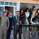 William and Craig with the general of the Peshmerga on the Daquq frontline