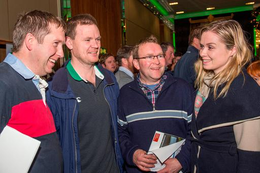 Pat Aherne, Togher, Frank O'Mahony, Douglas, Willie Sheehan, Carrignavar & Aoife Healy, Teagasc Cork West are pictured at the Teagasc National Dairy Conference in Rochestown, Cork. Photo: O'Gorman Photography.