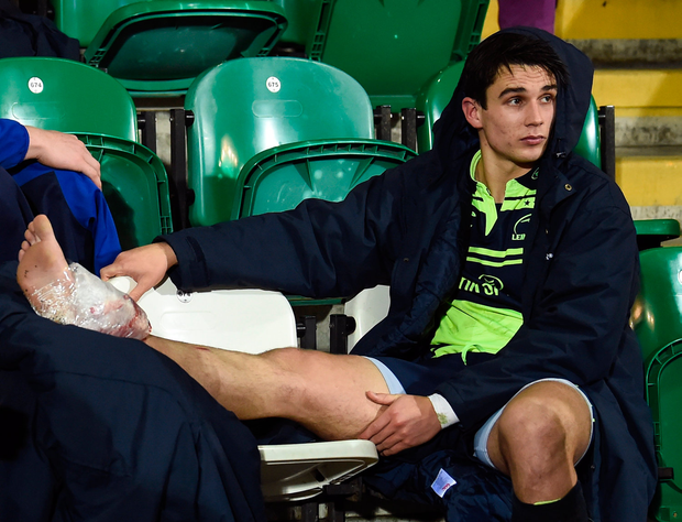 The Ireland international met with a specialist yesterday to determine whether an operation on his ankle injury was needed. Photo by Stephen McCarthy/Sportsfile