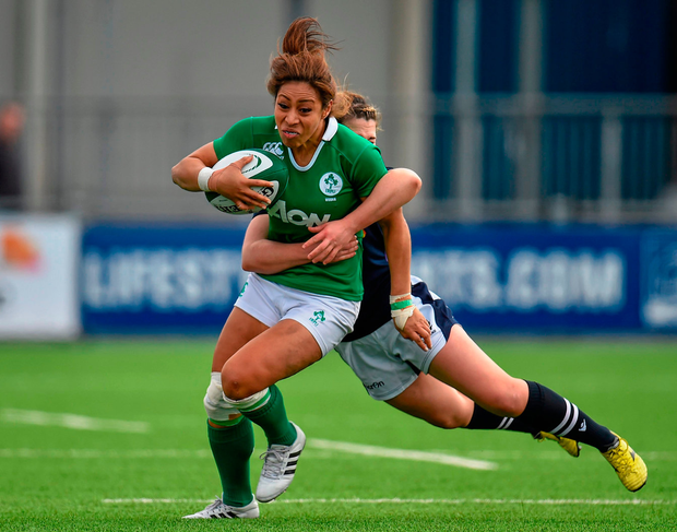 Sene Naoupu and her Irish team-mates have long since broken down out-world perceptions of the women's game. Photo: Sportsfile