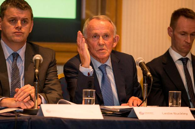Last week Mr Buckley led a stormy EGM where members of the DB schemes strongly opposed the passing of two resolutions aimed at cleaning up INM's balance sheet. Photo: Mark Condren