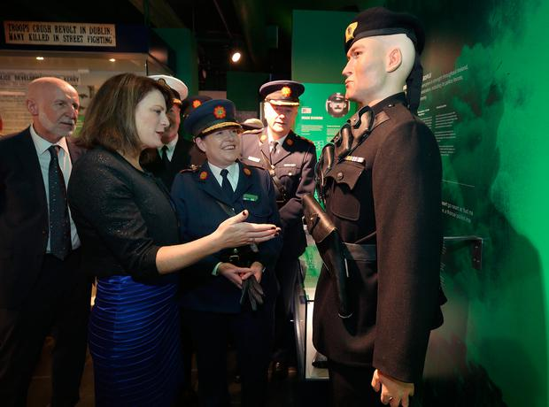 Garda Commissioner, Noirin O'Sullivan with Dara Lynne Lenehan, museum designer at the opening of the new Museum. Photo: Damien Eagers