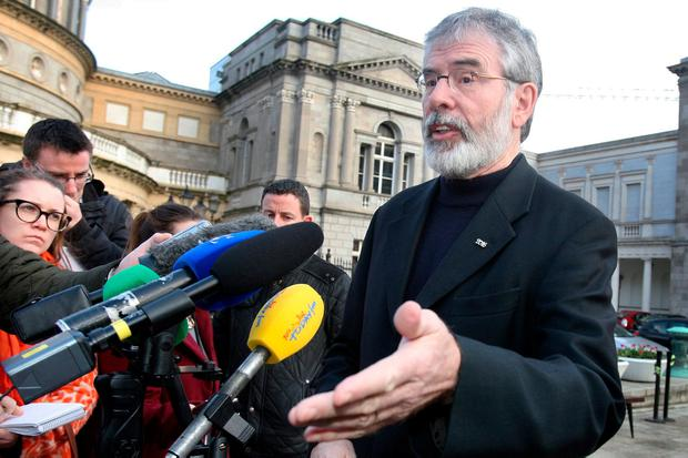 Calls have been made for Gerry Adams to step aside as Sinn Féin leader. Photo: Tom Burke