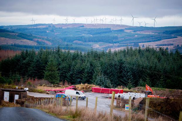 The entrance to the property where the man lost his life on a wind farm in Ballyfarnon, Co. Sligo. Photo: James Connolly