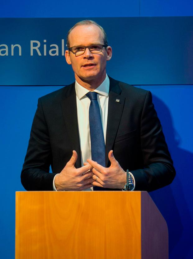 Minister for Housing, Planning, Community & Local Government Simon Coveney TD during the announcement of the Government's new Rental Strategy under Rebuilding Ireland: Action Plan for Housing & Homelessness at the Government Press Centre, Dublin. Photo: Gareth Chaney Collins