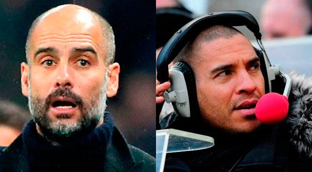 Pep Guardiola and Stan Collymore