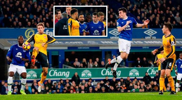 Seamus Coleman was on target for Everton